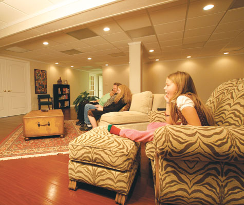 a drop ceiling system also provides maximum sound dampening qualities in your basement