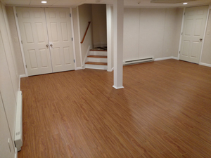 Basement Flooring After in Madison