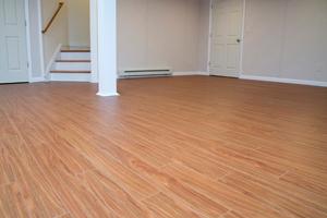 WoodLike Floor For Basements Wisconsin Illinois Basement Flooring - Thermaldry basement flooring cost