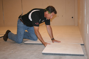 Installing ThermalDry® insulated floor decking in Milwaukee