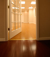 Basement Wood Flooring installed in Eau Claire, Wisconsin & Illinois