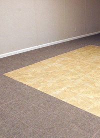 finish basement floor. ThermalDry  Carpeted Basement Floor Tiles Finished Flooring in Madison WI Easy to Install