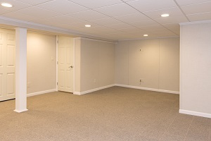 A complete finished basement system in a La Crosse home