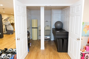 TBF finished basement with home gym in Milwaukee
