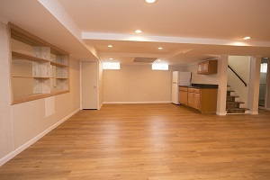 A beautiful, finished basement in Southern WI & Northern IL