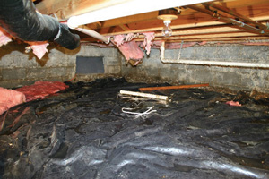 Crawl Space Repair Before in Milwaukee