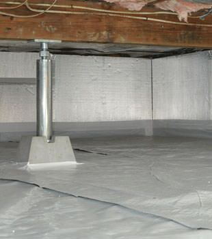 Installed crawl space insulation in Woodstock
