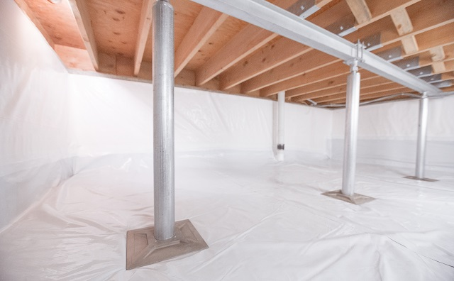 Wi Amp Il Crawl Space Structural Support Jacks Installation Crawl Space Jack Posts