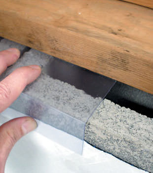 Block wall clear covering for wet crawl spaces in Beloit