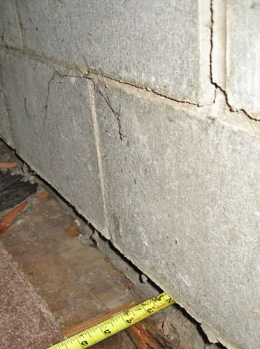 Foundation Wall Separating From The Floor In Altoona Home