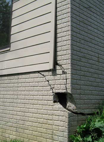 severe cracking of structural walls in La Crosse