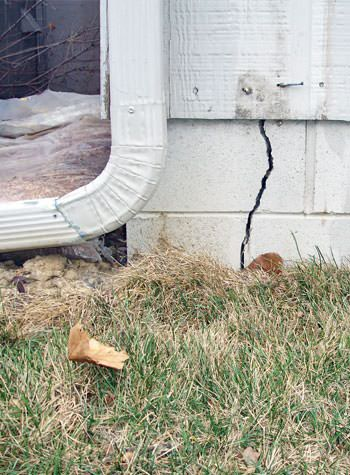 foundation wall cracks due to street creep in Greendale