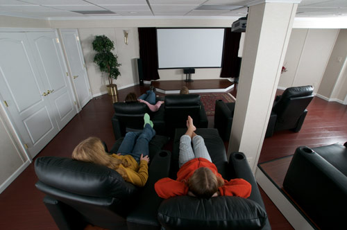 basement finishing theater