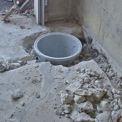 Placing a sump pit in a West Allis home