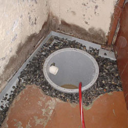 Installing a sump in a sump pump liner in a West Allis home