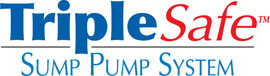 Sump pump system logo for our TripleSafe, available in areas like Fort Atkins