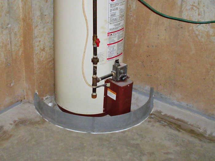 ... An Old, Outdated Water Heater System That Is Protected By The FloodRing  ... Nice Ideas