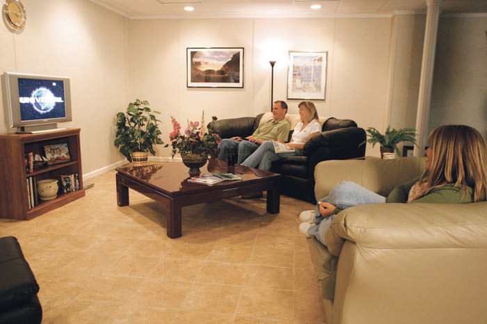 Lighting Basement Washroom Stairs: Basement Floor Tiles In Kenosha, Milwaukee, Madison