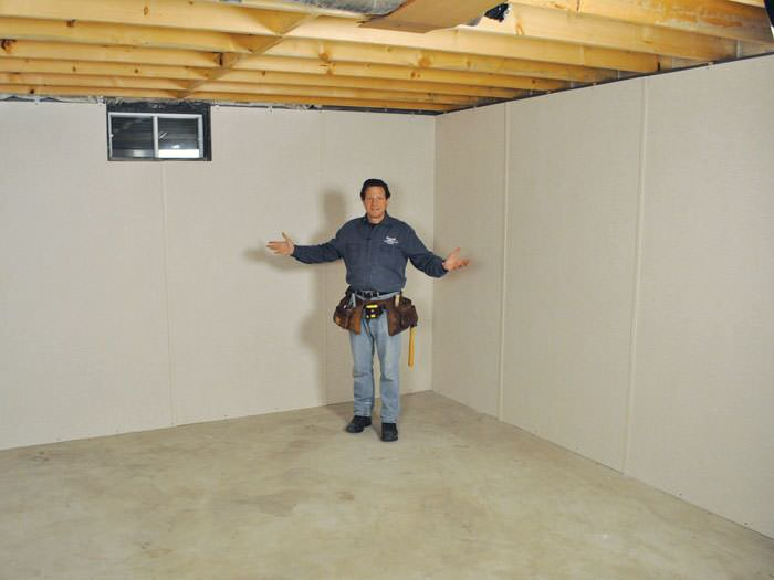 ... Eau Claire Basement Insulation Covered By EverLast™ Wall Paneling, With  SilverGlo™ Insulation Underneath