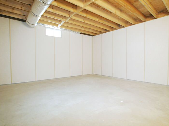 Our ZenWall  insulated basement wall panels installed in a Basement Wall Products Wisconsin Illinois