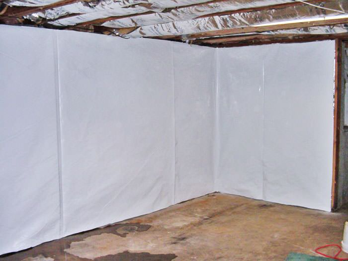 unfinished basement wall covering.  Basement Wall Vapor Barrier In Cherry Valley Cleanspace Basement Wall Vapor Barrier System Wisconsin